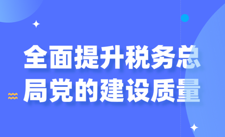 全面提升税务总局党的建设质量