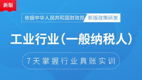 7天搞定工业行业真账实操(一般纳税人)(6月版)