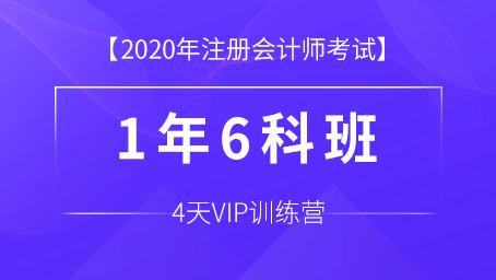 CPA注册会计师4天vip训练营