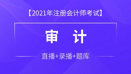 2021年注册会计师课程+题库-审计