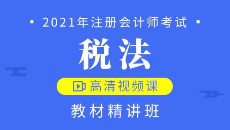 (金桔老师)2021年注册会计师-税法