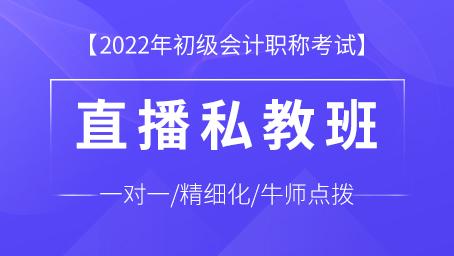 2022年初级会计师职称直播私教班(直播+录播+题库+答疑)