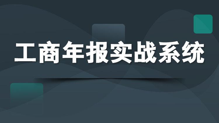 工商年报实战系统(高清视频+实训系统)